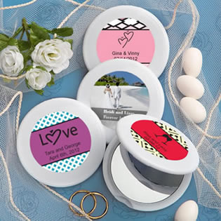 Personalized Compact Mirror Favors