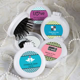 Personalized Brush and Mirror Compact Favors