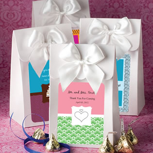 "White ""Delivered with Love"" boxes from the  Personalized Expressions Collection  (O"