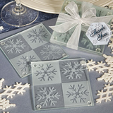 Snowflake Coaster Wedding Favors (Set of Two)