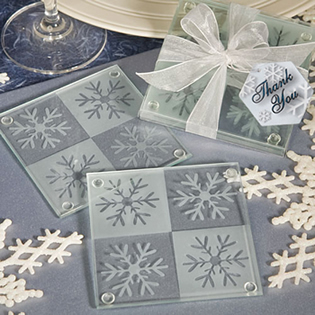 Snowflake Coaster Favors