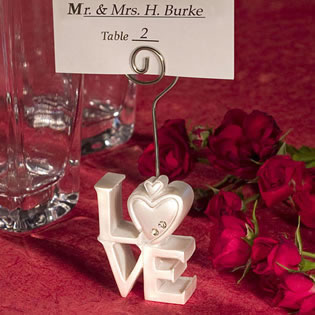 Love Design    Place Card Holder Wedding Favors