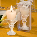 Bride and Groom Flute Candle Favors