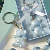 Blue Teddy Bear Design <i>Favor Saver</i> Key Chains