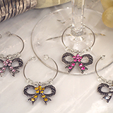 Elegant Bow Design Wine Charms