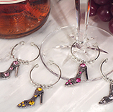 Dazzling Divas Collection Shoe Wine Charms