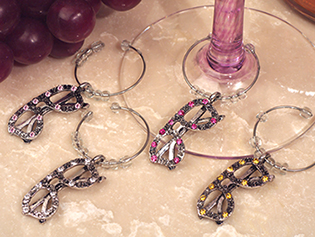 Dazzling Divas Collection Sunglasses Wine Charms