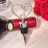 Classic Two Hearts Become One Bottle Stopper