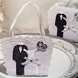 Bride and Groom Bag Holder