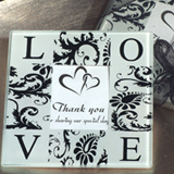 Classic Love and Damask Photo Coaster