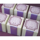 "Square Favor Labels (Sticky Back) - Monograms (2"")"