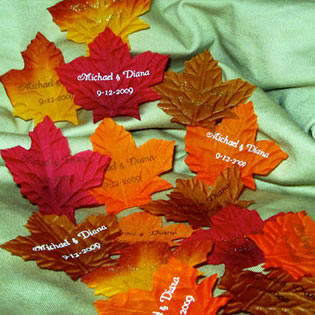Personalized Fall Leaves (200 per bag)