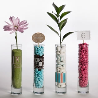 Printed Bud Vase Wedding Favors