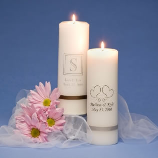 Personalized Unity Candle Favors