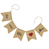 The New Mr. & Mrs. Burlap Banner