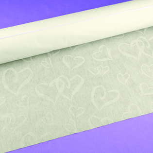 Linked at the Heart Ivory Aisle Runner