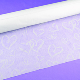 Linked at the Heart White Aisle Runner