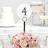 Filigree Table Number Cards