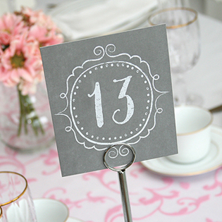 Charming Vintage Table Number Cards (1-40)