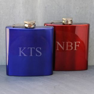 Personalized Metallic Flasks