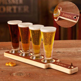 Beer Tasting Set (wood werving tray, 4 mini-pilsners)