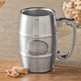Tankard with Pewter Medallion 16oz