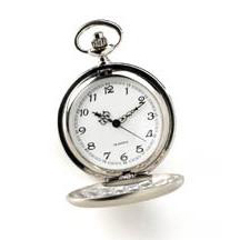 Polished Silver Pocket Watch