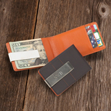 Personalized Metro Leather Wallet & Money Clip