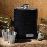 Executive Leather Flask Set