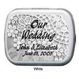 Wedding Mint Tins - Lovely Wedding Lace