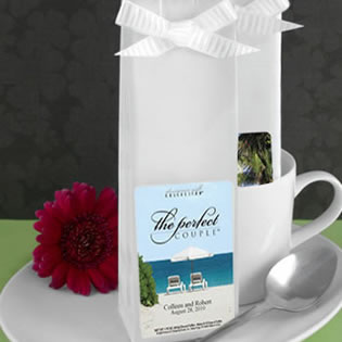 Beach Theme Personalized Coffee Wedding Favors