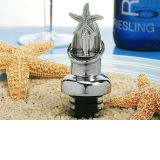 Starfish Design Wine Pourer, Bottle Stopper Combination