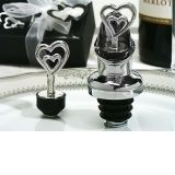 Two Hearts Are Better Than One Wine Pourer, Bottle Stopper Combination