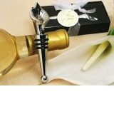 Elegant Chrome Calla Lily Wine Stopper