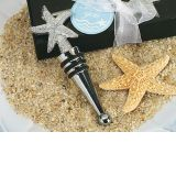 Chrome Starfish design wine stopper.