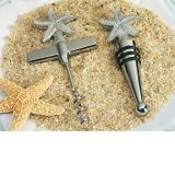 Beach Theme Starfish Wine Opener & Stopper Set