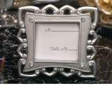 Stylish Silver Place Card Frame Favor