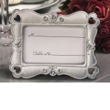 Stylish Silver Hearts Photo Frame Favor