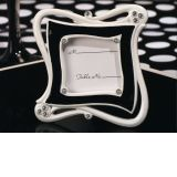 Stylish, Chic Black and White Epoxy Place Card Frame Favor