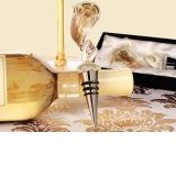 Murano Art Deco Collection Elegant Golden Swirl Wine Stopper