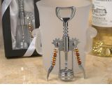 Murano Art Deco Collection Wine Opener with Golden Brown Beads
