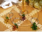 Murano Art Deco Collection Grape Design Wine Charms