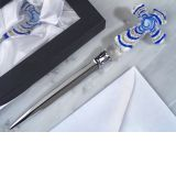Murano Art Deco Collection Letter Opener (Blue Glass Cross)