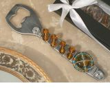Murano Art Deco Bottle Opener with Amber Bead Design