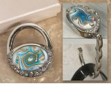 Murano Art Deco Collection Purse Shape Handbag Holder