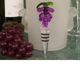 Murano Art Deco Glass Grape Design Stopper