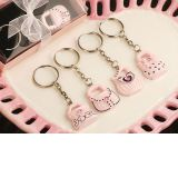 Oh So Trendy Pink and Black Purse Key Chains