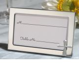 Cross accented Place card frame favor