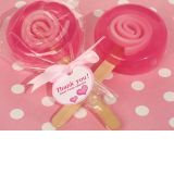 Sweet Treats Pink Lollipop Soap Favor