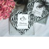 Zebra Heart Print Photo Coaster